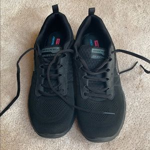 Black Sketchers sneakers, size 8